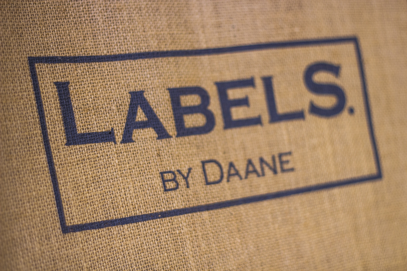 Labels By Daane Logo on cotton
